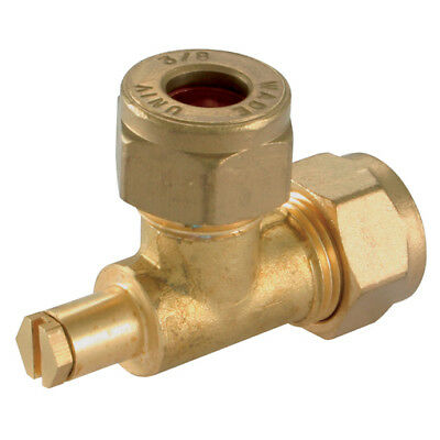 """Wade Brass Compression Fittings - 5/16""""Od Test Point Fitting Elbow 9-00911"""
