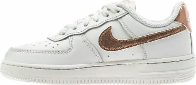 watch cb76d e8729 Scarpe Bambina Junior Nike Air Force 1 Ps 314220 Pelle White Rose Bronze  Bianco