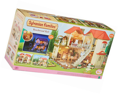 Sylvanian Families 2 Storey Home Beechwood Hall Doll House Playset For Girls New