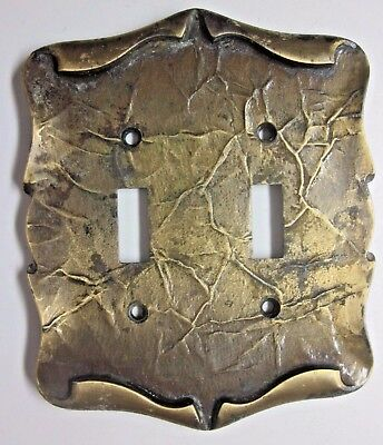 Amerock Carriage House Dark Brass 2 Gang Switch Wall Plate Cover Parchment Style