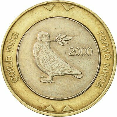[#521304] BOSNIA-HERZEGOVINA, 2 Konvertible Marka, 2000, British Royal Mint, SS