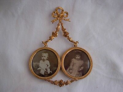 ANTIQUE FRENCH GILT BRONZE BRASS PHOTO FRAME,LOUIS XVI STYLE,LATE 19th CENTURY.