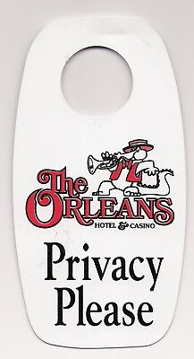 """The ORLEANS"" Hotel & Casino ""Privacy Please""/ ""Maid Service"" Door Hanger DND LV"