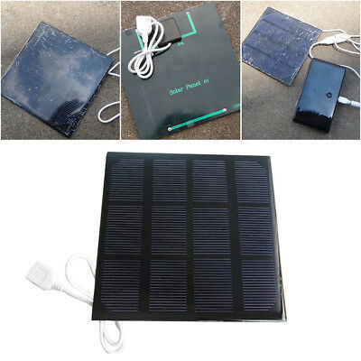 3W USB Solar Panel Power Trickle For Phone MP3 Boat Small Camping Battery Charge
