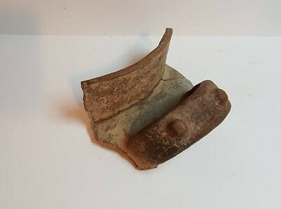 Original Pre Columbian  Igneri / Taino / Large Pottery Bowl Fragment / #12
