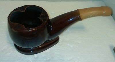 Vintage Ceramic Ashtray Shaped As A Pipe