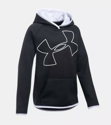 NWT Girls Youth Medium Under Armour Storm Big Logo Fleece Hoodie MSRP $44.99