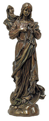 Our Lady Undoer Of Knots Statue, Cold Cast Bronze, 12""