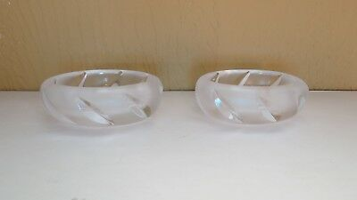 LALIQUE PAIR  YSEULT OVAL MASTER SALT DISH  small dish