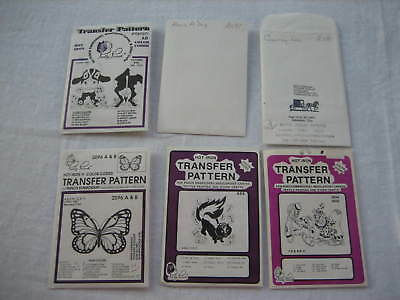 Mixed Lot 6 - 1980s PRETTY PUNCH Hot Iron Transfer Textile Craft Patterns - LotA