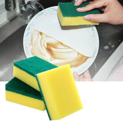 Lots 5Pcs Cleaning Dish Washing Brush Scouring Pad Sponge Scrubber Cleaner Tool