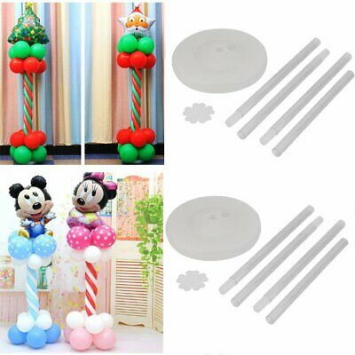 2Set Balloon Arch Frame Column Stand Builder Kit for Birthday Wedding Decora VIP