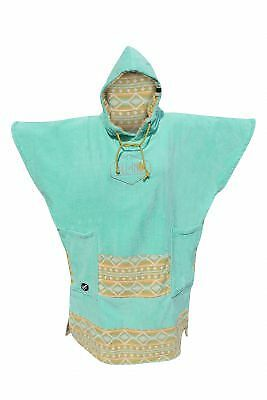 Poncho All In Bumpy Turquoise Indian Print
