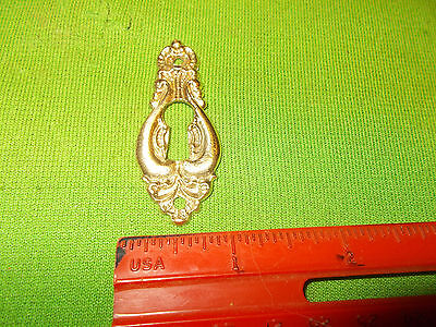 VINTAGE FANCY BRASS BEAUTIFUL  DRESSER DRAWER DESK  Escutcheon Key Hole Cover
