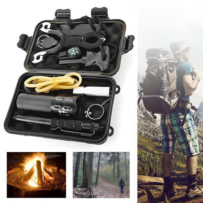 SOS Emergency Survival Equipment Outdoor Sports Tactical Hiking Camping Tool Kit