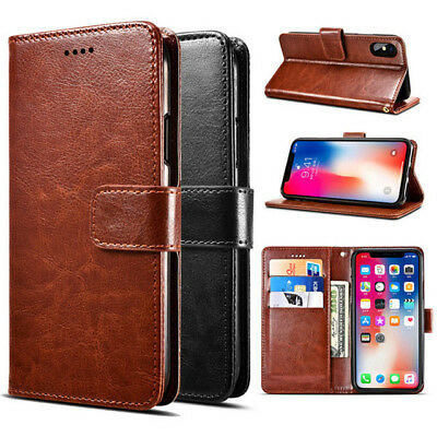 Flip PU Leather Wallet Case Cover For iPhone 5 5S 5C 5S 6 6S 7 8 Plus X XS Max