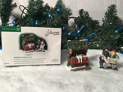New Department 56 New England Village Series The Big Prize Turkey Set Of 2 58539