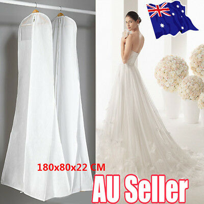 Extra Large Wedding Dress Bridal Gown Garment Breathable Cover Storage Bag SN