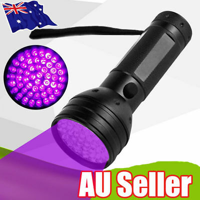 51 LED UV Flashlight Torch Light Lamp Ultraviolet Blacklight Aluminum 395 nM SN