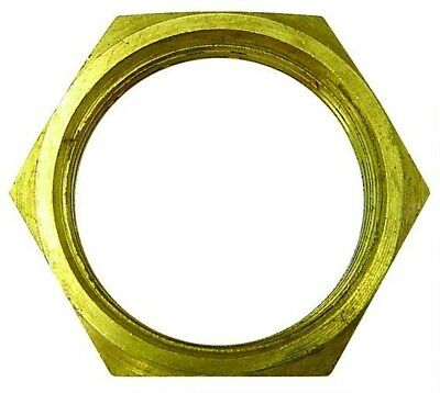 LNM22 Brass Locknut Fitting Metric Female M22 x 1.5