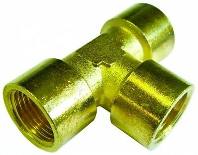 FET48 Brass Equal Tee Fitting BSPP Female 3""
