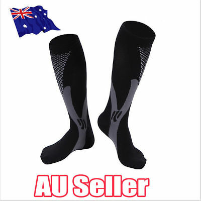 Compression Socks Sports Men Women Calf Shin Leg Fitness Running CrossFit S4