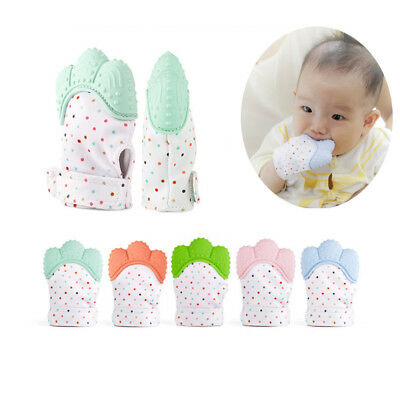 Silicone Baby Mitt Teething Mitten Teething Glove Candy Wrapper Sound Teether SN