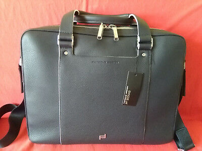 Porsche Design SHYRT Grain/Briefbag MZ2 / Aktentasche Leder dunkelblau