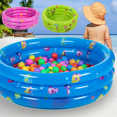 3 Ring Inflatable Bath Tub Round Swimming Pool Toddler Children Kids Outdoor