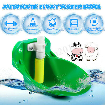 AUTOMATIC WATER BOWL Float Valve Drinking Stock Plastic Farm For Horse  Sheep Dog