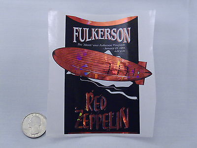 Wine Bottle Lables Red Zeppelin Fulkerson Finger Lakes NY #553