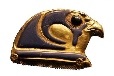 Sticker Ancient Egypt Old Egyptian Falcon Amulet Gold