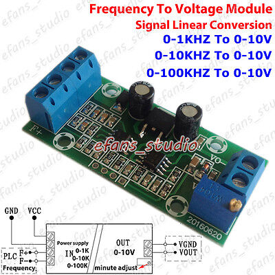Frequency to Voltage Signal 0-1Khz 10Khz 100Khz To 0-10V Linear Converter Module