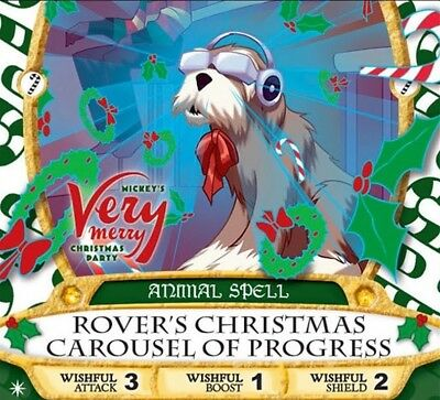 2017 Very Merry Christmas Party Sorcerers Of The Magic Kingdom Card Rover