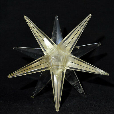 "3.2"" Clear Quartz 12 Point Merkaba Star Hand Made Crystal Mineral Stone - India"