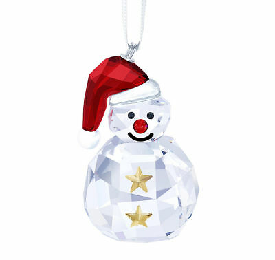 *nib* Swarovski Retired Rocking Snowman Ornament Christmas #5189475