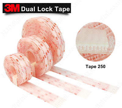 3M Dual Lock™ SJ3560 Clear 25mm x 1m Reclosable Multi Purpose Fastener EXTREMELY