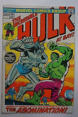 Incredible HULK #159 (1973) Marvel White Abomination Cover