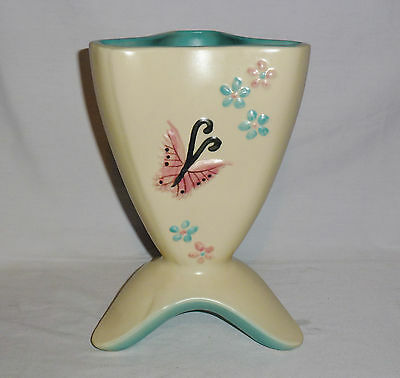 """Hull Pottery Butterfly Footed Pitcher B-11 (8 3/4"""" Tall)"""