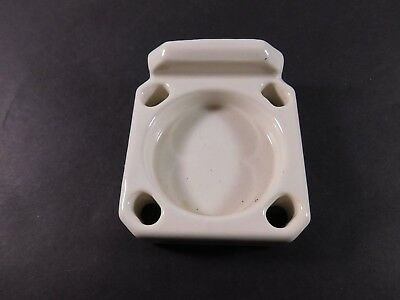 Vintage Bathroom Porcelain Toothbrush&Glass Holder - MISSING MOUNTING HARDWARE
