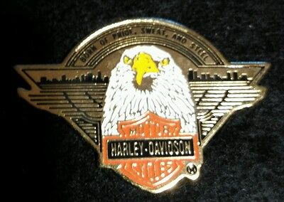 Vintage Harley Davidson 1991 Brass and Enamel Pin by Baron Pride Sweat Steal Pin