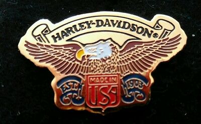 Vintage Harley Davidson 1991 Brass and Enamel Pin by Baron Pin back