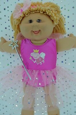 """Play n Wear Doll Clothes For 16"""" Cabbage Patch PINK FAIRY~PANTS~HEADBAND~WAND"""