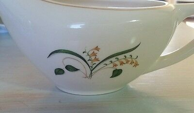 Knowles Forsythia 52-5 Gravy Boat or Large Creamer Cream Green Yellow