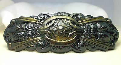 Large Black Gold Hair Clip Barrette Antique French Style