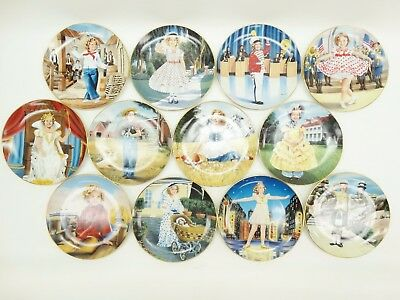 """Danbury Mint Shirley Temple Scene's 8"""" Plate Collection A3066 Lot of 12"""