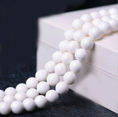 """15"""" White Tridacna Gem Stone Roundelle Loose Spacer Beads Jewelry Finding DIY"""