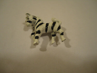 Vintage 50's Black and White Enamel Zebra Pin/Brooch 1 1/4 inch Signed