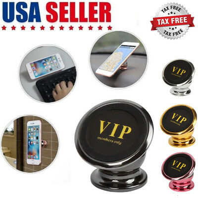 Magnetic Car Phone Mount Holder Dashbord Ball Dock Stand 360 Degree Rotation