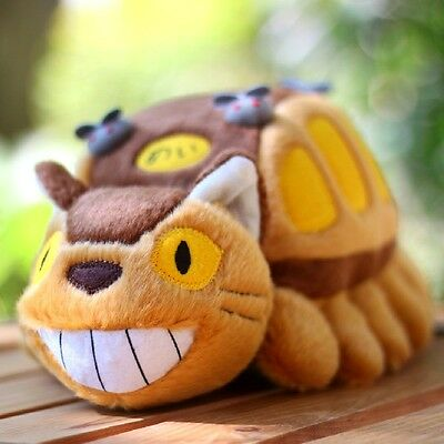 "12"" My Neighbor Totoro Cat Bus Plush Doll Catbus Soft Toy Stuffed Pillow Ghibli"